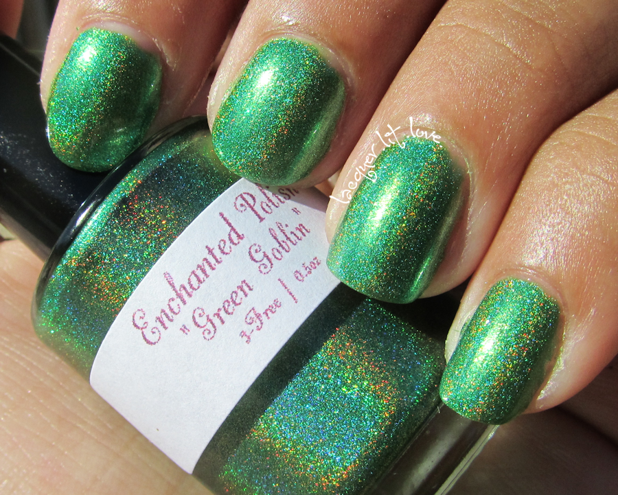 Watch out! It's: Enchanted Polish Green Goblin   She ...  Enchanted Polish Keep Watch